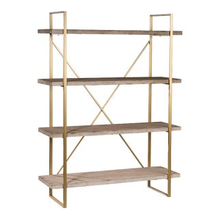 "Emma 47""L Bookshelf in Antique White For Sale"