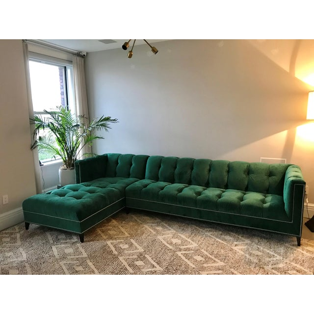 Fabric Ambella Dashing Sofa & Left Arm Chaise For Sale - Image 7 of 7