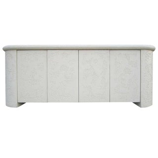 Neo-Classical Textured Credenza For Sale