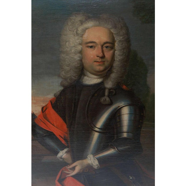 Baroque Portrait Painting of a Nobleman, the Netherlands, Circa 1760 For Sale - Image 3 of 8