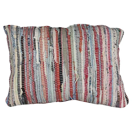Moroccan Boucherouite Sham Striped II - Image 1 of 3