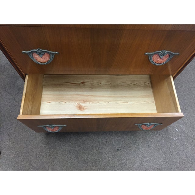 Art Deco Tall Dresser with Drawers - Image 10 of 11