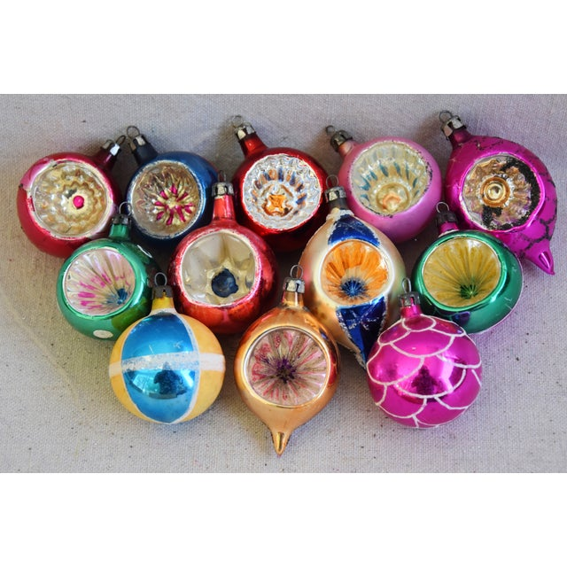 1950s Vintage Colorful Christmas Ornaments W/Box - Set of 12 For Sale - Image 4 of 10