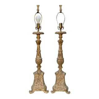 """Vintage Aidan Gray """"Great Cathedral """" Table Lamps - a Pair For Sale"""