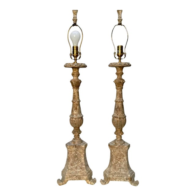 "Vintage Aidan Gray ""Great Cathedral "" Table Lamps - a Pair For Sale"