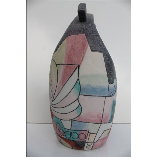 Kiln Art Cubist Handmade Vase For Sale In Miami - Image 6 of 8