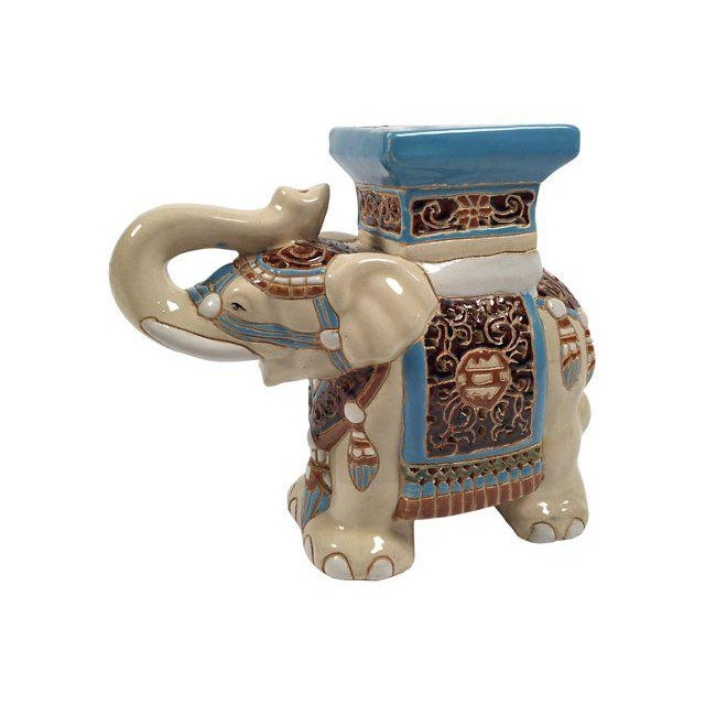 Ceramic Elephant Plant Stand - Image 2 of 4