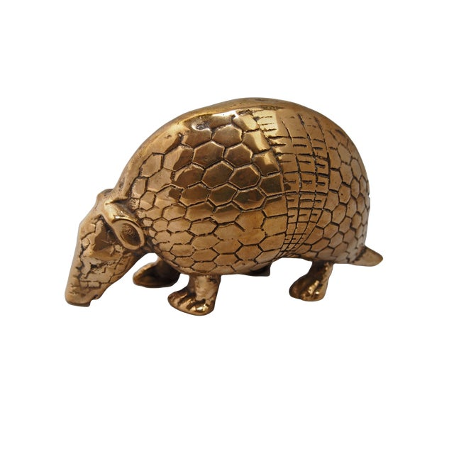 Brass Armadillo Figurine For Sale