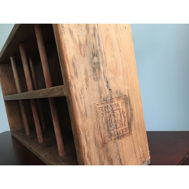 20th Century Country Napa Valley Wooden Wine Crate For Sale - Image 4 of 8