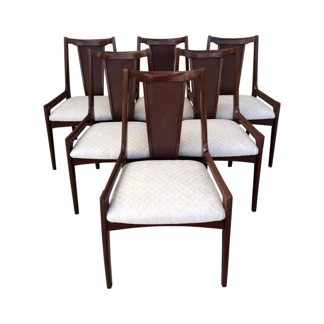 High Back Lacquered Dining Chairs - Set of 6 - Image 1 of 11