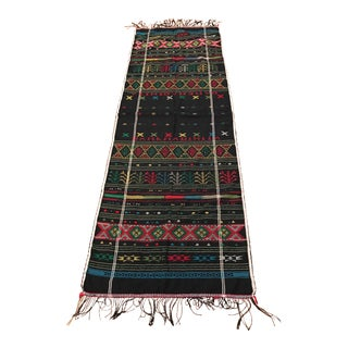 Vintage Africa Tribal Needlework Textile Runner - 2′3″ × 6′6″