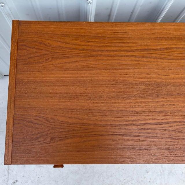 Wood Vintage Modern Teak Commode or Dresser For Sale - Image 7 of 13