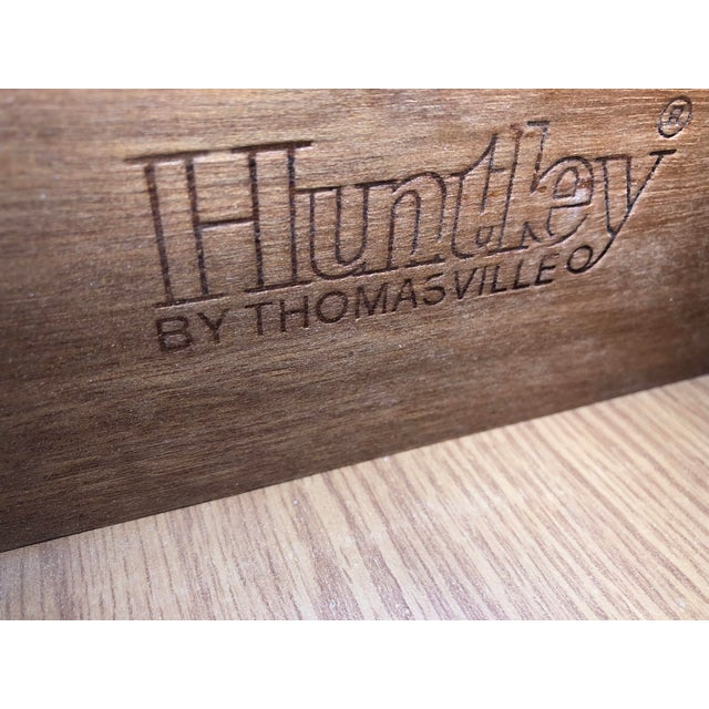 Wood Vintage Faux Bamboo Thomasville Huntley Five Drawer Dresser For Sale - Image 7 of 8