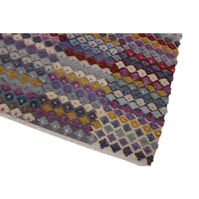 Islamic Moroccan High-Low Pile Albertin Wool Rug - 8′6″ × 10′2″ For Sale - Image 3 of 8