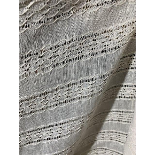 Ralph Lauren Capshaw Linen Sheer Alabaster For Sale
