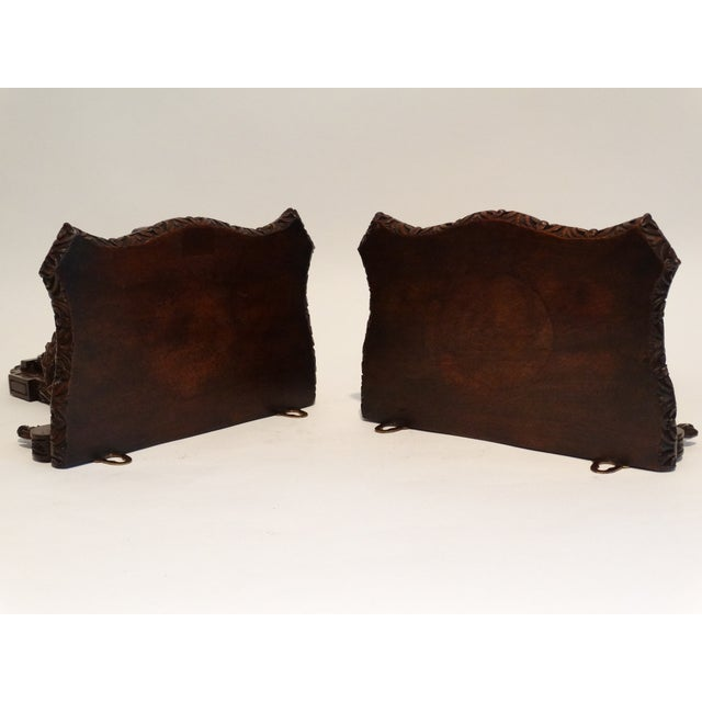 Boho Chic French Antique Carved Wall Brackets, Pair For Sale - Image 3 of 8