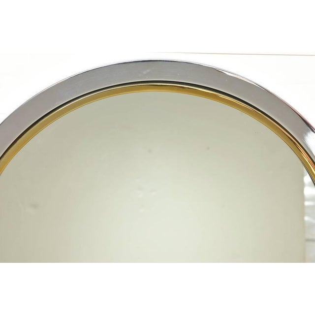 This wonderful and versatile wall mirror by the Pace Collection has a demilune console shelf. It has been professionally...
