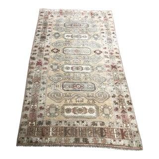 Turkish Vintage Camel Wool Rug For Sale