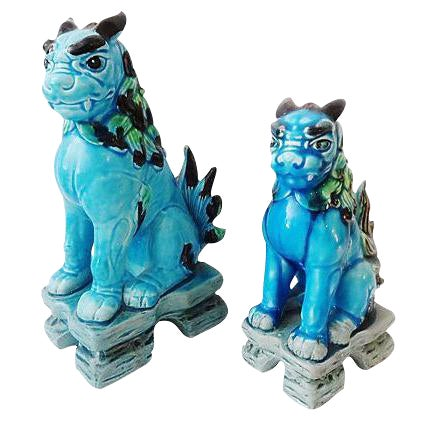 Japanese Temple Foo Dogs - Set of 2 For Sale