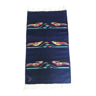 1960s Vintage Signed Scandinavian Rollakan Rug - 1′11″ × 3′4″ For Sale