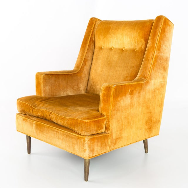 Mid Century Edward Wormley for Dunbar Chair and Ottoman For Sale - Image 9 of 13