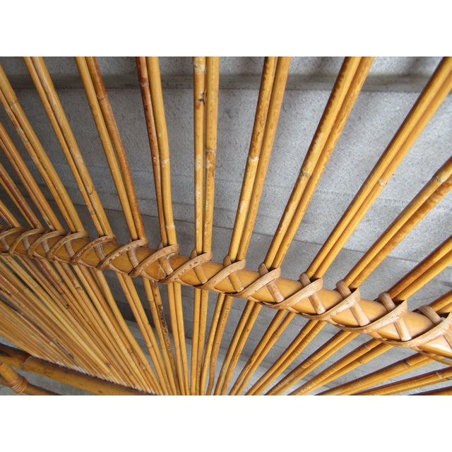 1970s Mid-Century Modern Fan Bamboo and Bentwood Headboard For Sale - Image 5 of 8
