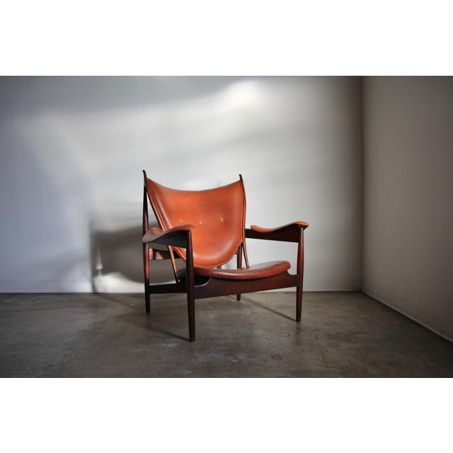 Wood 1990s Finn Juhl Chieftain Chair in Mahogany by Interior Crafts For Sale - Image 7 of 8