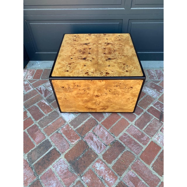 1970's Mid-Century Modern Burlwood Coffee Table For Sale In Los Angeles - Image 6 of 6