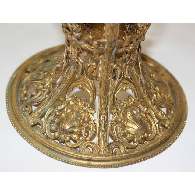 19th Century French Ormolu Metal Etched Glass - Image 9 of 10
