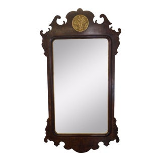 Henredon Chippendale Style Beveled Wall Mirror For Sale