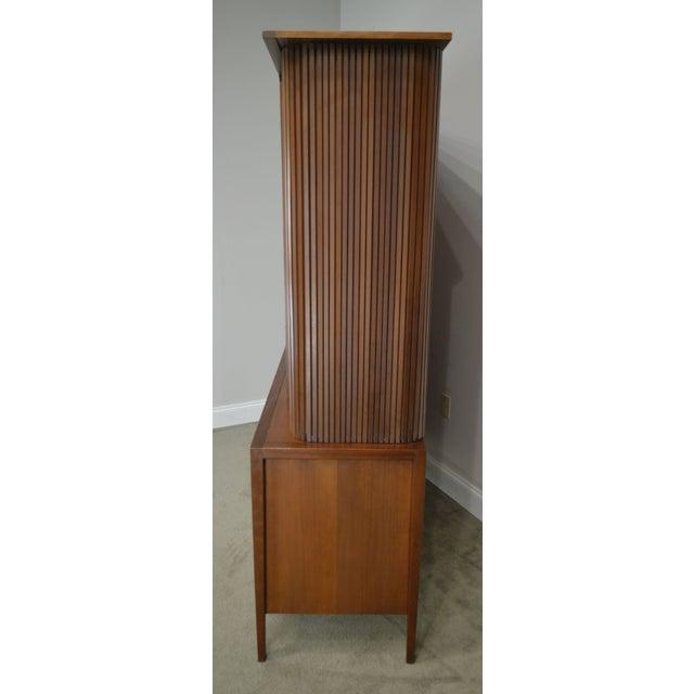 Drexel Drexel Counterpoint John Van Koert Mid Century Modern Tambour Door Hutch Top Sideboard, Bookcase For Sale - Image 4 of 13