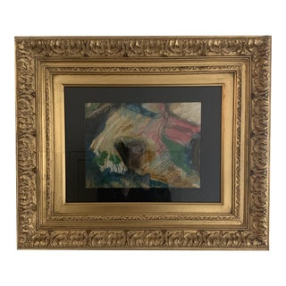 1920s Vintage Pastel Chalk Abstract Pastel For Sale