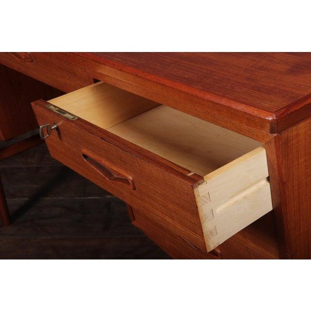 Danish Mid Century Modern Teak Desk For Sale - Image 12 of 13