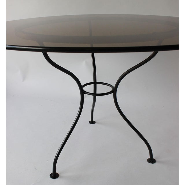 Mid-Century Iron Tripod Table For Sale In New York - Image 6 of 8
