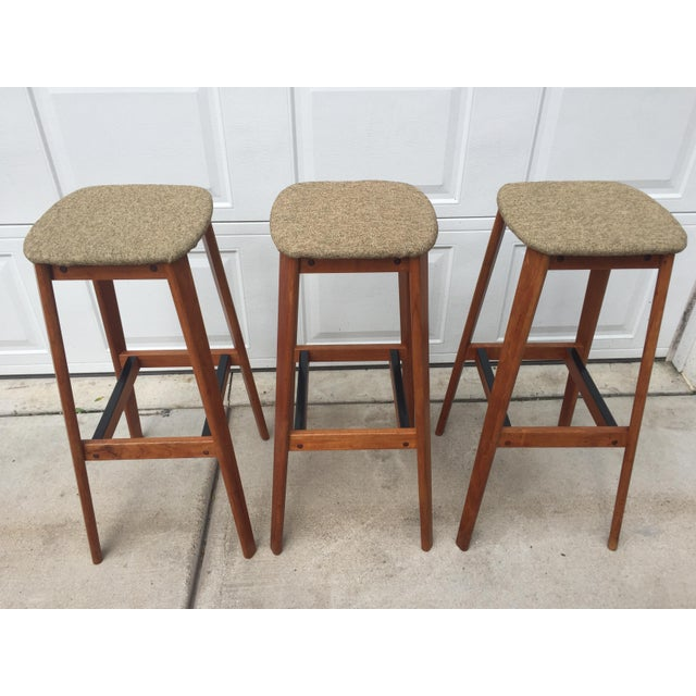 Tarm Stole Og Mobelfabrik of Denmark Bar Stools - Set of 3 For Sale - Image 12 of 12