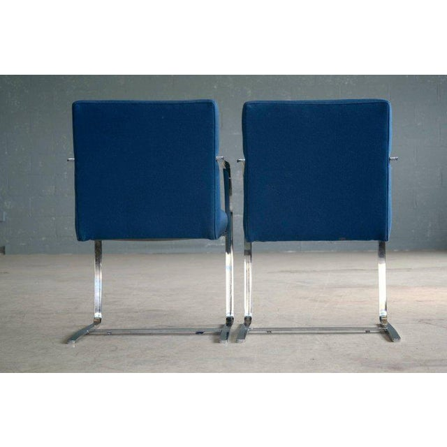 Pair of Brno Style Side Chairs in the Manner of Mies van der Rohe - Image 8 of 10