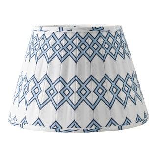 "Blue Lattice 10"" Lamp Shade, White For Sale"