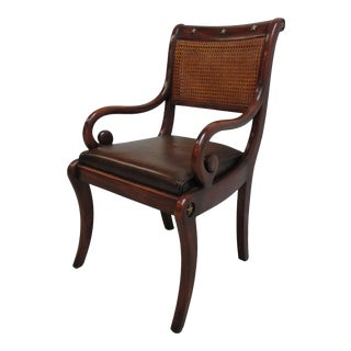 Theodore Alexander Double Cane French Regency Arm Chair For Sale