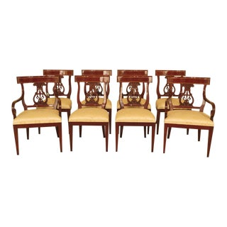 1990s Vintage Kindel Regency Mahogany Dining Room Chairs- Set of 8 For Sale