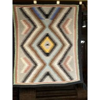 "Vintage Navajo Storm Pattern Design Rug - 2' 2"" X 2' 6"" Preview"