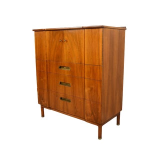 1950s Vintage John Widdicomb Mid-Century Modern Gentleman's Chest For Sale