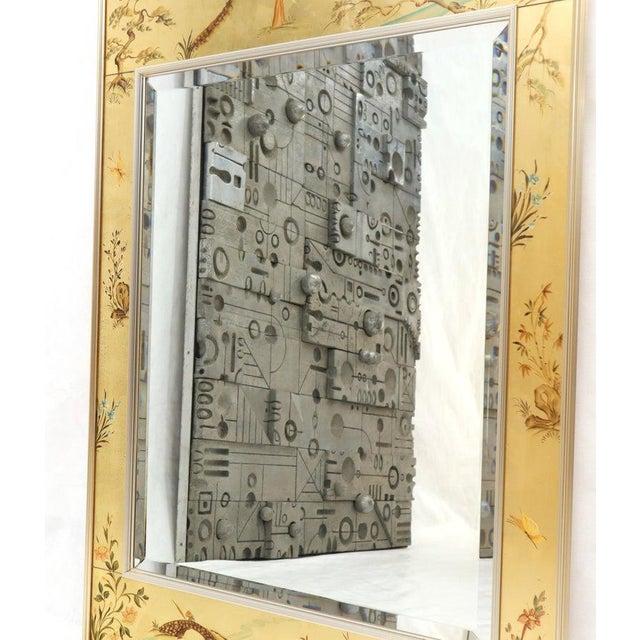 La Barge Reverse Painted Gold Leaf Rectangular Frame Decorative Mirror For Sale - Image 12 of 13