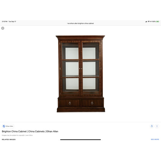 Modern Ethan Allen Brighton China Cabinet For Sale - Image 3 of 4