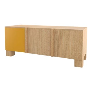 Contemporary 101C Storage in Oak and Yellow by Orphan Work, 2020 For Sale