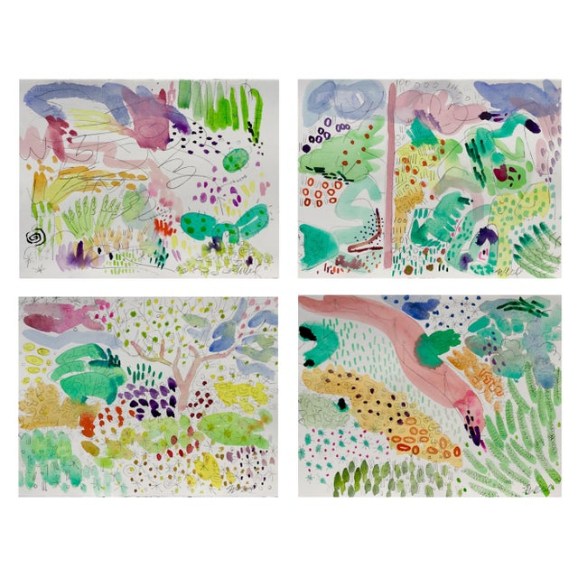 Butchart Garden Watercolors - Set of 4 For Sale In Portland, OR - Image 6 of 6