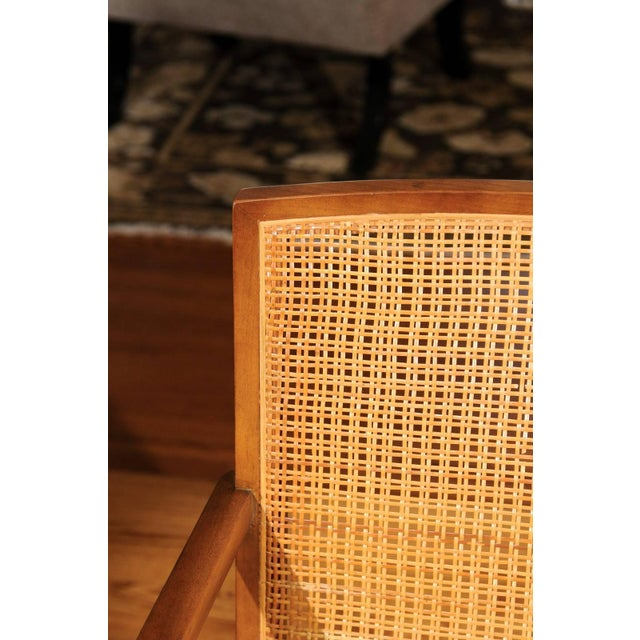 1960s Rare Surviving Set of Six Coveted Cane Dining Chairs by Michael Taylor for Baker For Sale - Image 5 of 11