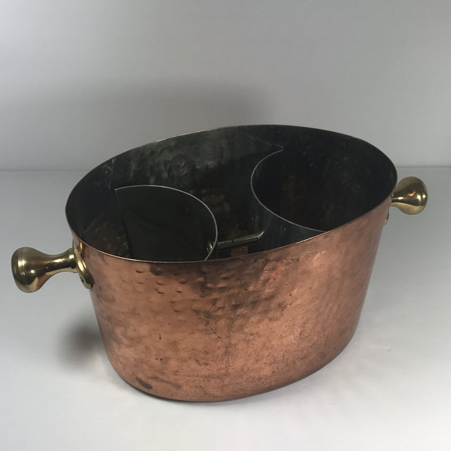 Vintage Copper Double Champagne Bucket For Sale - Image 10 of 11