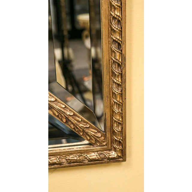 Gold Adams Style Beveled Mirror in Finely Carved Frame For Sale - Image 8 of 11