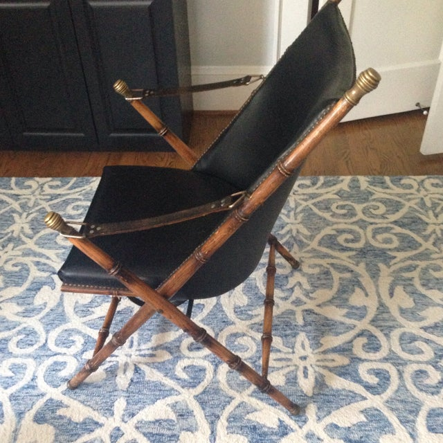 Antique Folding Campaign Chair - Image 3 of 5