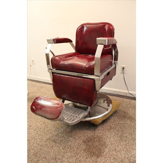 Vintage Mid Century Modern Narda Barber Chair - Image 2 of 11